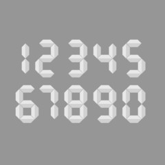 digital number vector illustration