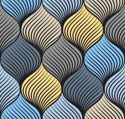 Abstract braid seamless pattern