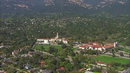 California Santa Barbara Mission Mountains