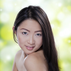 Attractive model after skin treatment