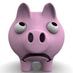 Грустная свинка-копилка