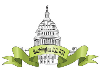 Washington DC symbol. United States Capitol hill