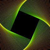 spirale vettoriale multicolore su sfondo nero