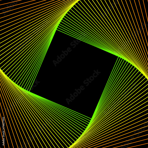 Aluminium Spiraal spirale vettoriale multicolore su sfondo nero