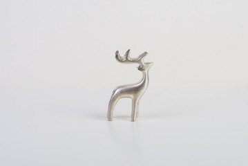 Metalic raindeer figure