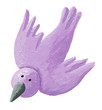 Purple bird flying