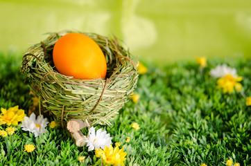 Osterei im Nest, Osternest