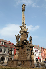 Baroque plague column in Jaromer, Czech Republic.