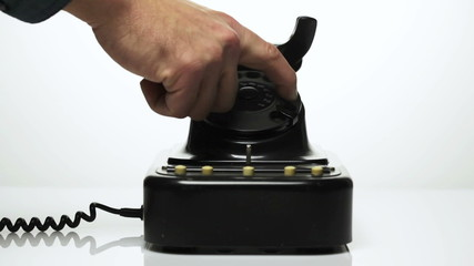 Close-up of a vintage telephone