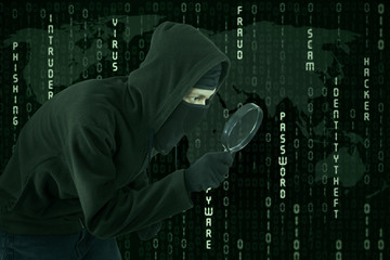 Cyber theft using magnifying glass