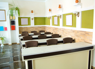 Interior of a conference room, simple and modern style