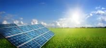 """Постер, картина, фотообои """"landscape with solar panel"""""""