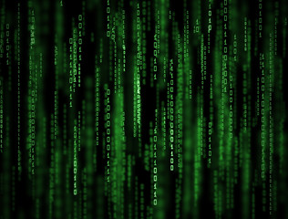3D Matrix Background