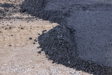 First layer of asphalt