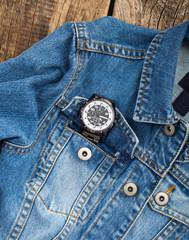 Diver watch inside pocket jeans.