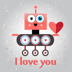 funny love with a robot