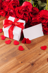 Valentine gift with roses