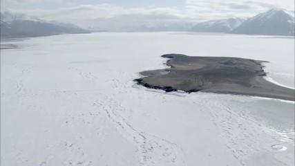 Aerial Footage Arctic Tundra