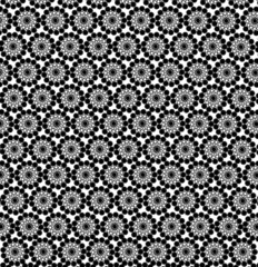 luxurious wallpapers with round black patterns
