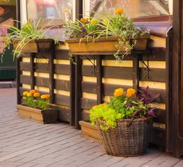 nice european cafe exterior