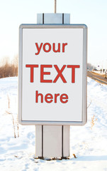 citylight (banner) in winter with your text