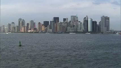 Hudson River New York Skyline