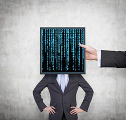 screen with matrix