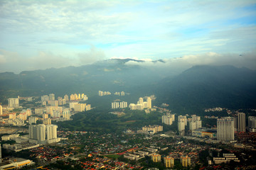 Aerial view of Penang, Malaysia