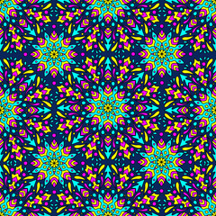 seamless pattern with colorful circular ornament