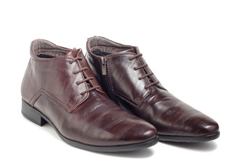 Trendy winter men's brown shoes