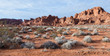 Leinwanddruck Bild - Valley of fire, Nevada