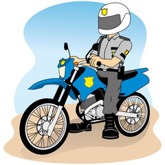 Job security on a bike, doing round or patrol