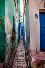 Very narrow alley in an Indian town