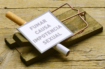 Fumar causa impotencia sexual