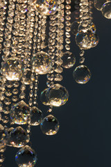 crystal chandelier with lighting