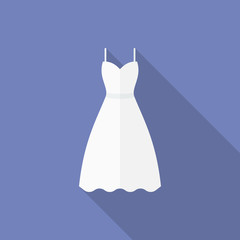 Icon of a wedding dress. Flat style