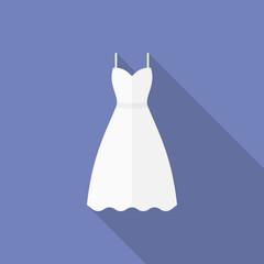 Icon of a wedding dress. Flat style