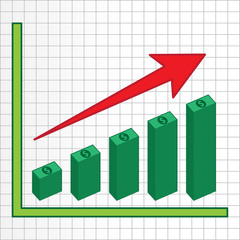 Business Graph Rising, Vector Work