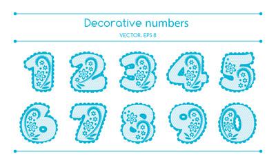 Vector Decorative Numbers Set