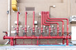 full set of water sprinkler and fire fighting system control pan