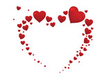 big heart valentine card vector