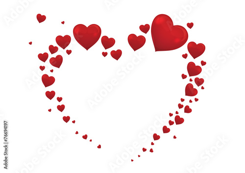 big heart valentine card vector