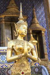 golden kinaree image act  like sawasdee, myth animal, Thai art s