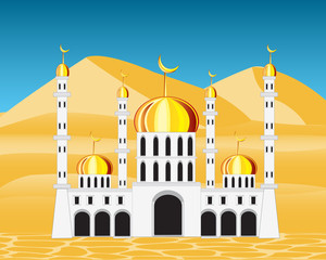 Mosque in desert