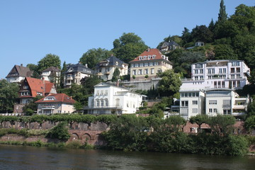 German houses along the Neckar River
