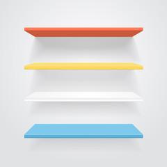 Color shelves. Vector.