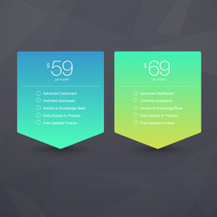 Vector Pricing Tables on Geometric background