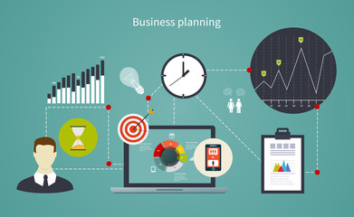 Business start infographics template