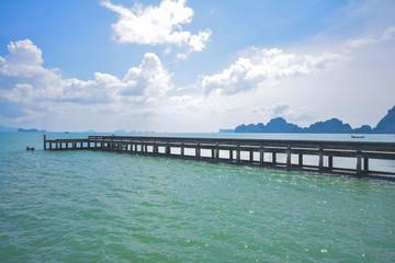 cement bridge pier to sea