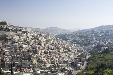 Silwan Village in Jerusalem.